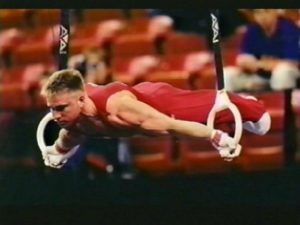 Grant on the rings - gymnastics